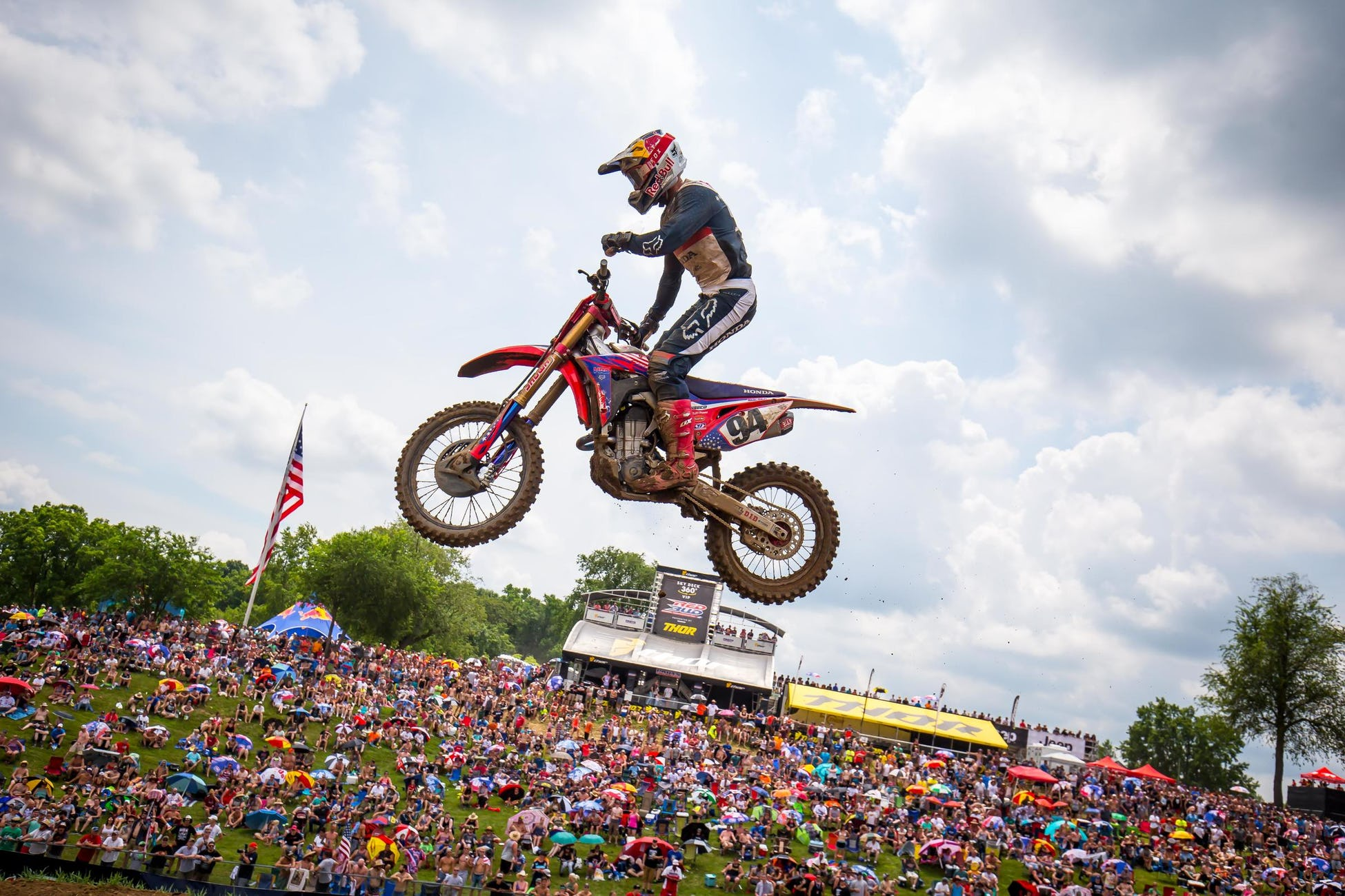 Roczen finished on the podium in moto two and remains third in the championship.